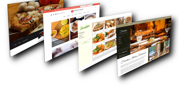 Restaurant oder Food Website